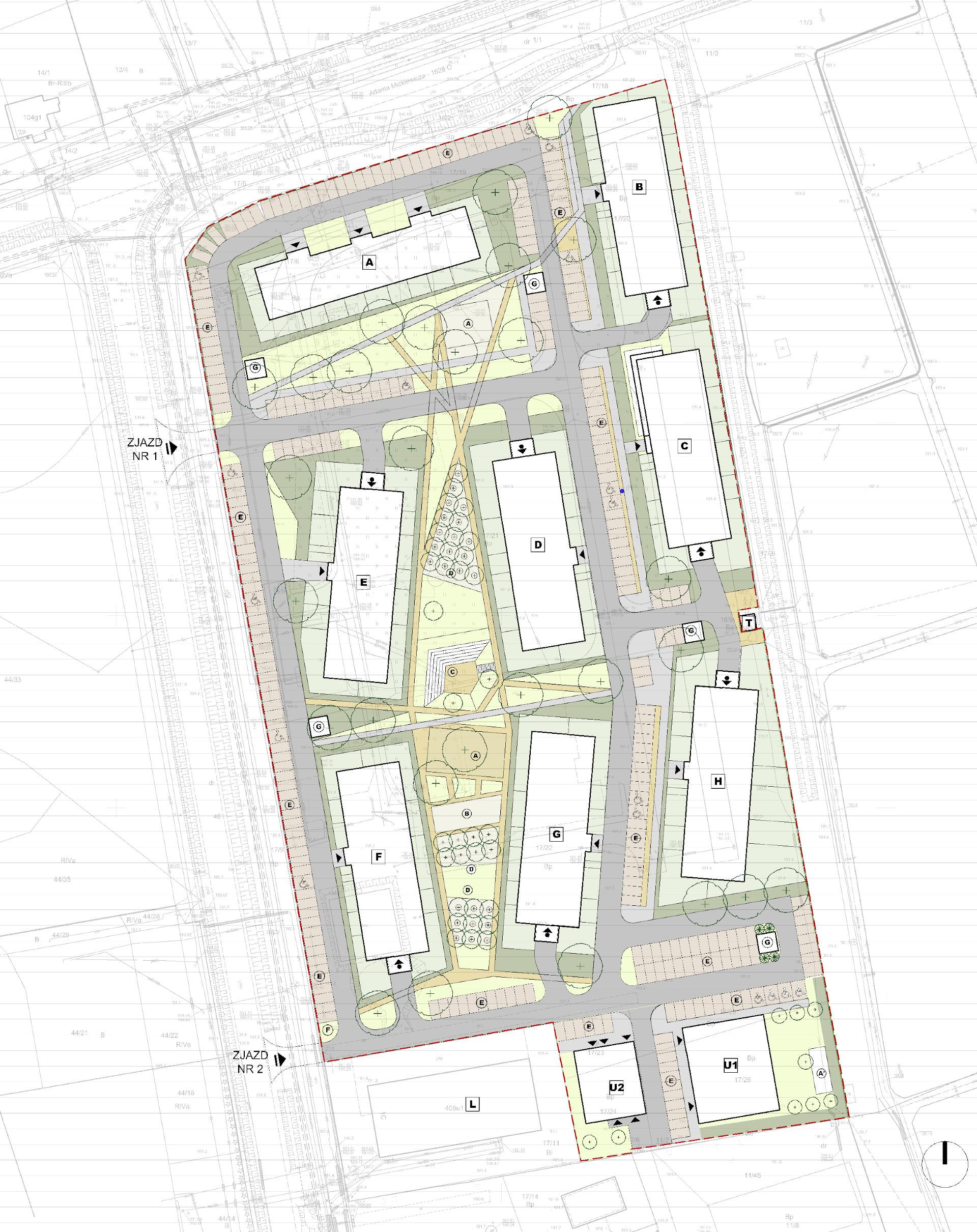 Belweder Park Nysa-lokalizacja i zagospodarowanie terenu 2