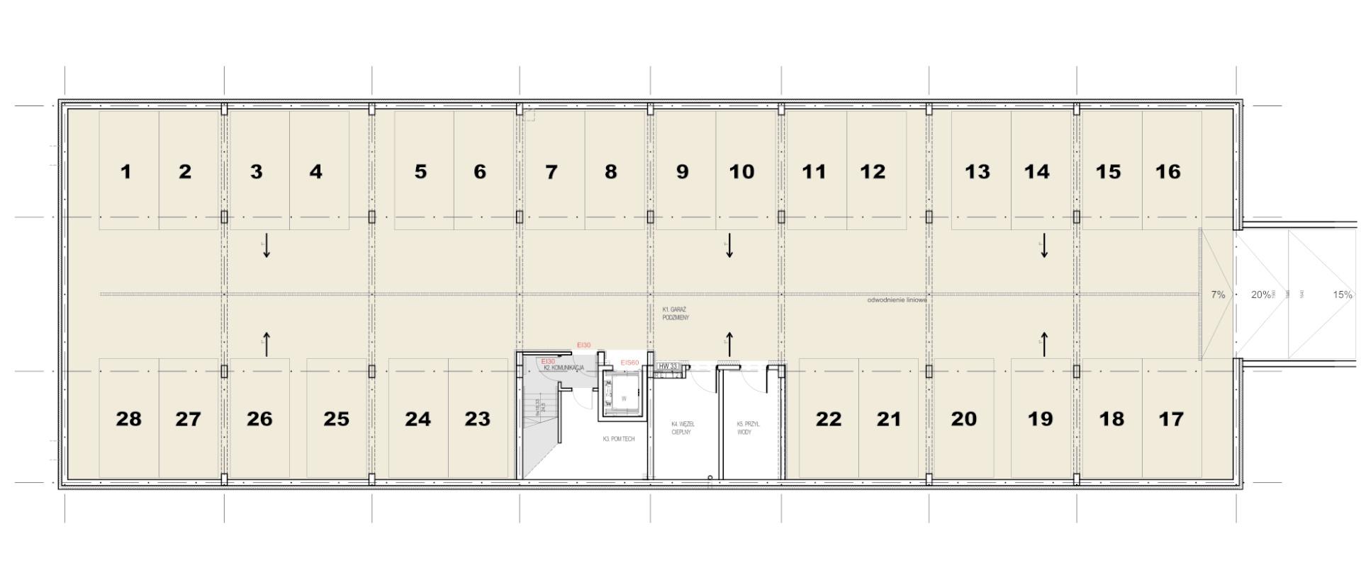 Belweder Park Nysa-Budynek B D F kondygnacja podziemna